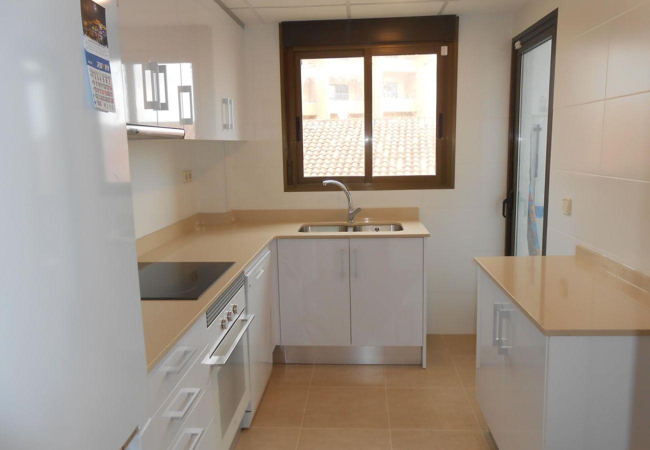 Cocina de los apartamentos Albatros Peñiscola