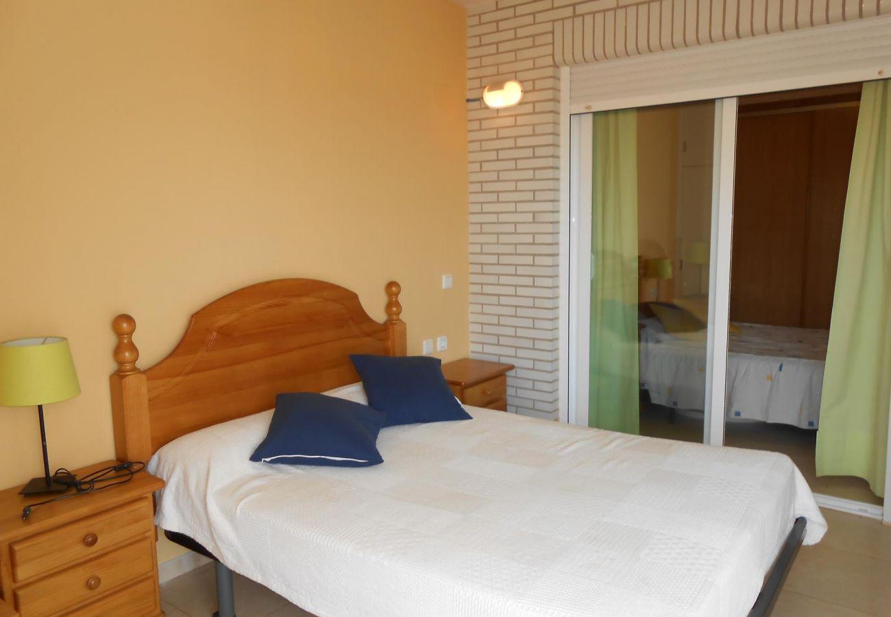 Appartement Peñíscola, deux chambres, près de la plage, piscine, parking