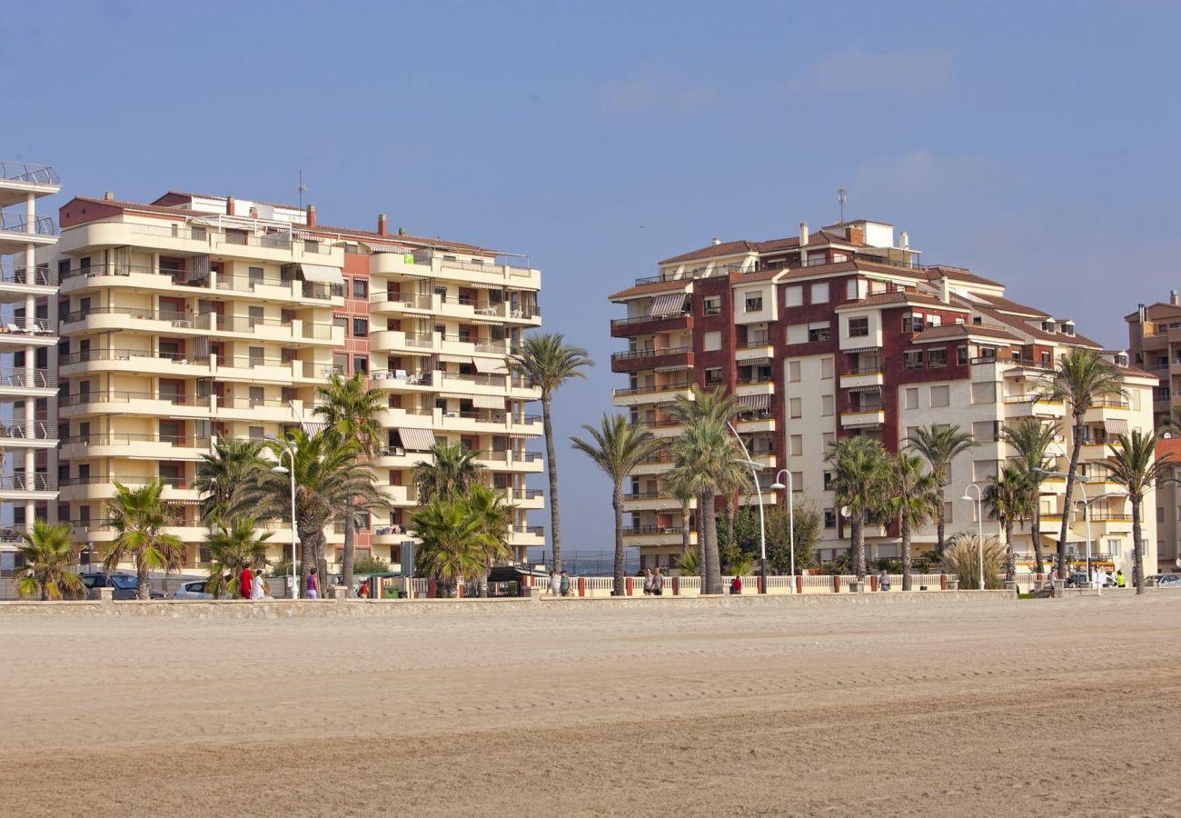 Bâtiment Albatros, urbanisation Albatros, première ligne, plage, famille, situation