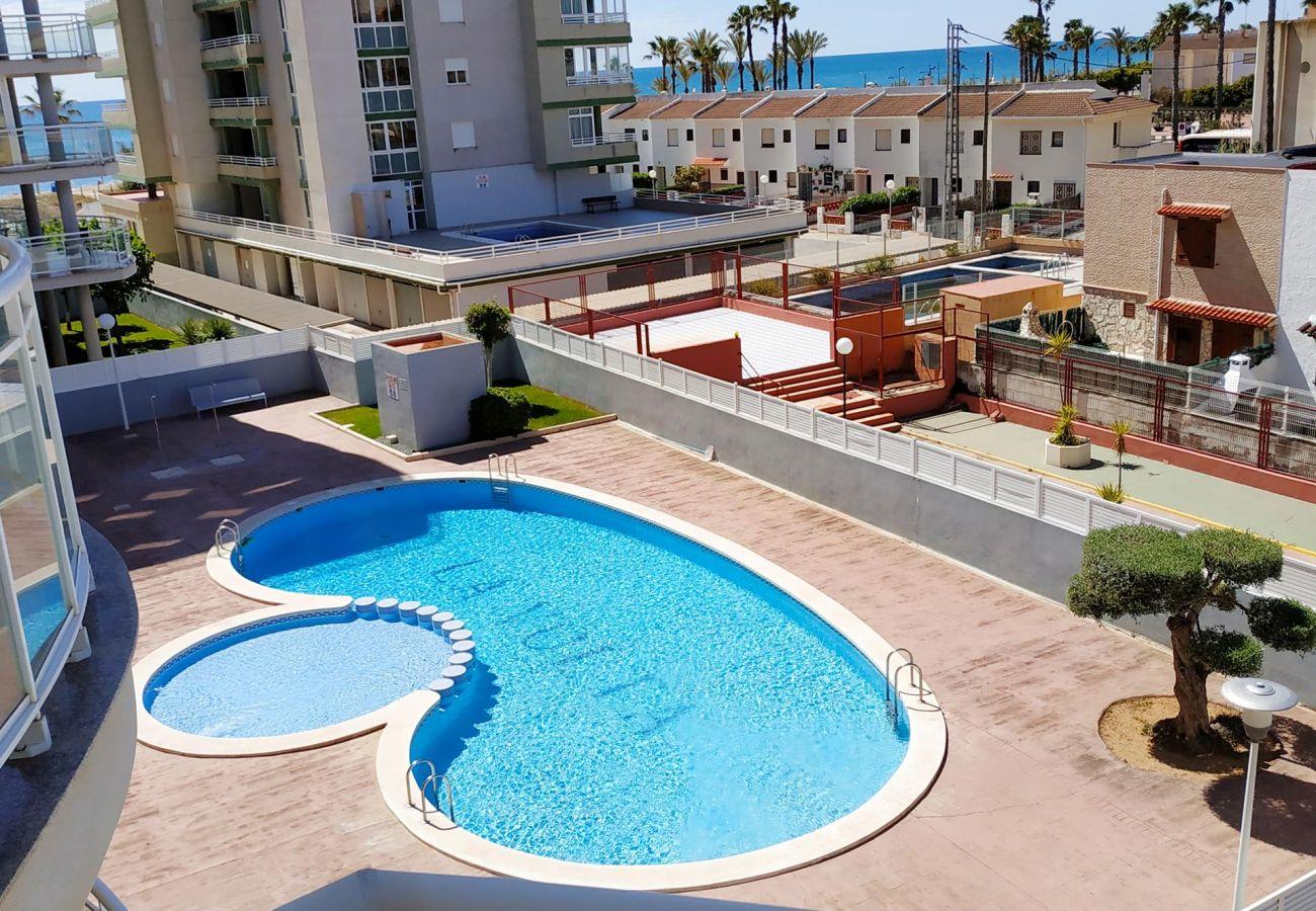 piscine, plage, famille, enfants, tranquillité, détente, Peñíscola.
